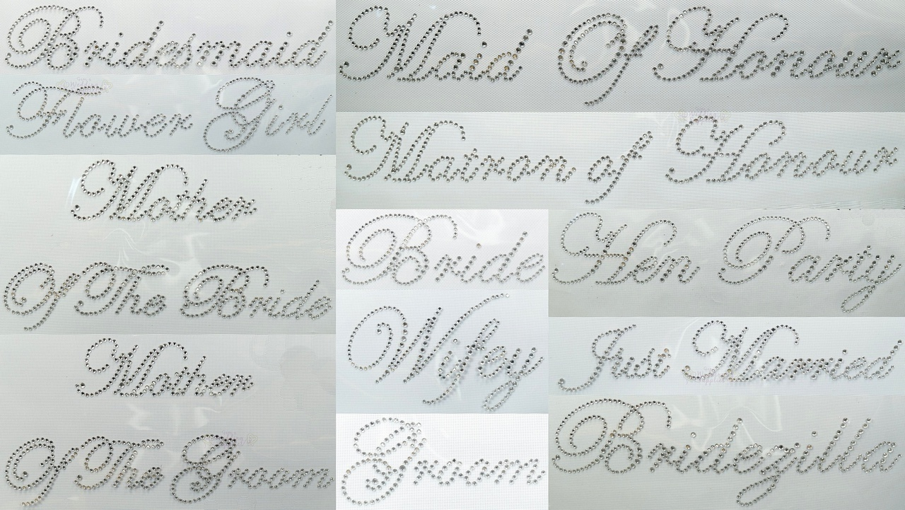 Wedding Iron On Transfers